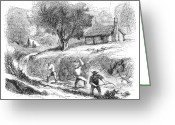 1860 Greeting Cards - California Gold Rush, 1860 Greeting Card by Granger