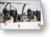 Helmet Greeting Cards - Camp Speicher, Iraq - U.s. Air Force Greeting Card by Terry Moore