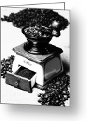 Appliances Greeting Cards - Coffee Mill Greeting Card by Falko Follert
