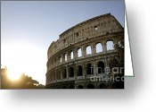 Ancient Rome Greeting Cards - Coliseum. Rome Greeting Card by Bernard Jaubert