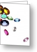 Luxury Jewelry Greeting Cards - Colorful Gems Greeting Card by Setsiri Silapasuwanchai