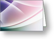Creativity Digital Art Greeting Cards - Curved Intersecting Lines Greeting Card by Ralf Hiemisch