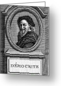4th Greeting Cards - DEMOCRITUS (c460-c370 B.C.) Greeting Card by Granger