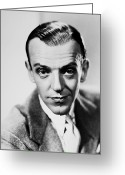 1940s Fashion Greeting Cards - Fred Astaire (1899-1987) Greeting Card by Granger