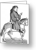 Canterbury Tales Greeting Cards - Geoffrey Chaucer Greeting Card by Granger