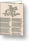Canterbury Tales Greeting Cards - Geoffrey Chaucers, Canterbury Tales Greeting Card by Photo Researchers