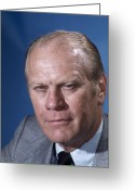 Mcnamee Greeting Cards - Gerald Ford (1913-2006) Greeting Card by Granger