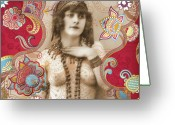 1930s Greeting Cards - Goddess Greeting Card by Chris Andruskiewicz