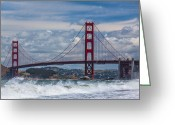 Kaiser Greeting Cards - Golden Gate Greeting Card by Ralf Kaiser