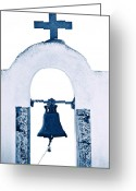 Faith Greeting Cards - Greek Chapel Greeting Card by Joana Kruse