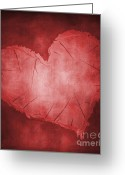 Illusion Illusions Greeting Cards - Heart Greeting Card by Kristin Kreet