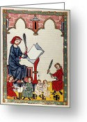 Music Teacher Greeting Cards - HEIDELBERG LIEDER, 14th C Greeting Card by Granger
