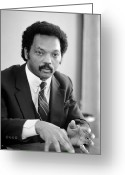 Civil Rights Photo Greeting Cards - Jesse Jackson (1941- ) Greeting Card by Granger