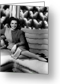 Entertainer Greeting Cards - Judy Garland (1922-1969) Greeting Card by Granger