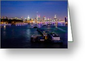 Illuminations Greeting Cards - London Skyline Sunset Greeting Card by Dawn OConnor