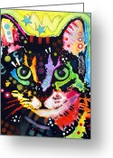 Kitty Greeting Cards - Maya Greeting Card by Dean Russo