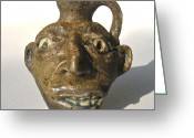 Miniature Ceramics Greeting Cards - Miniature Face Jug Greeting Card by Stephen Hawks