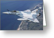 Air-to-air Greeting Cards - Mirage 2000c Of The French Air Force Greeting Card by Gert Kromhout