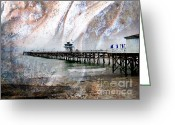 San Clemente Pier Greeting Cards - San Clemente Pier Greeting Card by Traci Lehman