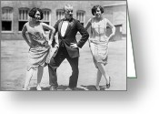 Tuxedo Greeting Cards - Silent Film Still: Dancing Greeting Card by Granger