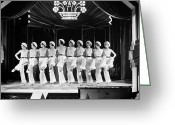 1930s Greeting Cards - Silent Still: Showgirls Greeting Card by Granger