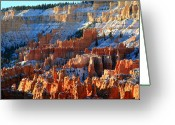 Thor Photo Greeting Cards - Sunset point in Bryce Canyon Greeting Card by Pierre Leclerc