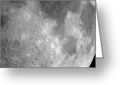Lunar Mare Greeting Cards - The Moon From Space, Artwork Greeting Card by Detlev Van Ravenswaay