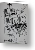 Keys Drawings Greeting Cards - The Wise Virgins Greeting Card by Gloria Ssali