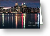 Architecture Tapestries Textiles Greeting Cards - Toronto skyline Greeting Card by Elena Elisseeva