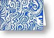 Swirls Drawings Greeting Cards - Untitled Greeting Card by Mandy Shupp