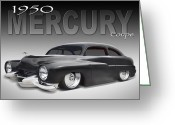 1950 Greeting Cards - 50 Mercury Coupe Greeting Card by Mike McGlothlen