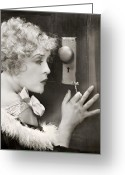 Suspicion Greeting Cards - Silent Film Still: Woman Greeting Card by Granger