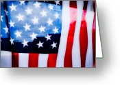 Posters And Greeting Cards - 50 Stars 13 Bars Greeting Card by Keith Sanders