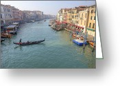 Gondola Photo Greeting Cards - Venezia Greeting Card by Joana Kruse