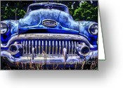 Photographers Ellipse Greeting Cards - 50s Buick Eight Greeting Card by Corky Willis Atlanta Photography