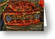 Photographers Ellipse Greeting Cards - 50s Ford Truck Greeting Card by Corky Willis Atlanta Photography