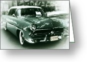 Pdx Greeting Cards - 52 Ford Victoria Hard Top Greeting Card by Cathie Tyler