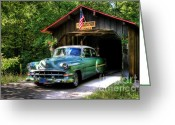 Light Aqua Greeting Cards - 54 Chevy Greeting Card by Joel Witmeyer