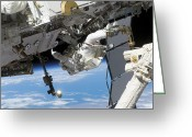 Maintenance Greeting Cards - Astronaut Participates Greeting Card by Stocktrek Images