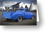Motel Greeting Cards - 56 Studebaker at the Wigwam Motel Greeting Card by Mike McGlothlen