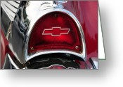 Brake Greeting Cards - 57 Chevy tail light Greeting Card by Paul Ward