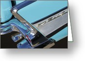 Antique Automobile Greeting Cards - 57 Chrome Greeting Card by Dennis Hedberg