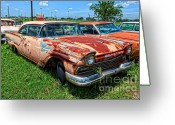 Photographers Atlanta Greeting Cards - 57 Ford at The Auto Ranch Greeting Card by Corky Willis Atlanta Photography