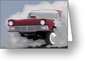 Racer Digital Art Greeting Cards - 57 Ford Gasser Greeting Card by Colin Tresadern