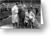 Babe Ruth World Series Greeting Cards - George H. Ruth (1895-1948) Greeting Card by Granger