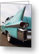 Antique Automobile Greeting Cards - 58 Cadillac Greeting Card by Dennis Hedberg