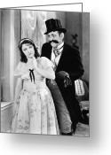Glove Greeting Cards - Silent Film Still: Couples Greeting Card by Granger