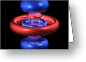 Quantum Mechanics Greeting Cards - 5dz2 Electron Orbital Greeting Card by Dr Mark J. Winter