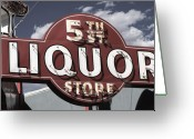 Reproductions Greeting Cards - 5th Street Liquor Las Vegas Greeting Card by Anthony Ross