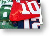 Eli Manning Greeting Cards - 6 10 12 Greeting Card by Rob Hans